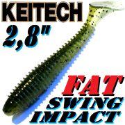 Keitch FAT Swing Impact 2,8 Gummifisch 7cm Watermelon PP. 8 Stück im Set!