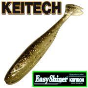 Keitech Easy Shiner 4 Gummifisch Farbe Gold Flash Minnow aromatisiert und gesalzen 7 Stück im Set