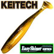 Keitech Easy Shiner 4 Gummifisch Watermelon PP./ Yellow 7 Stück im Set aromatisiert und gesalzen