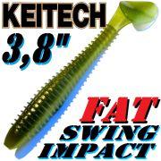 Keitech Fat Swing Impact 3,8 Gummifisch 9 cm Ayu 6 Stück im Set gesalzen & aromatisiert