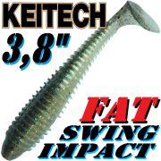 Keitech Fat Swing Impact 3,8 Gummifisch 9 cm Bluegill Flash 6 Stück im Set gesalzen & aromatisiert