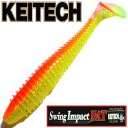 Keitech Fat Swing Impact 3,8 Gummifisch 9cm Orange Shiner 6 Stück gesalzen & aromatisiert