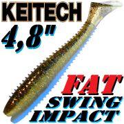 Keitech Fat Swing Impact 4,8 Gummifisch Gold Flash Minnow 5 Stück im Set gesalzen & aromatisiert!