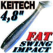 Keitech Fat Swing Impact 4,8 Gummifisch Hasu Silver Shiner 5 Stück im Set gesalzen & aromatisiert!