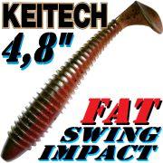 Keitech Fat Swing Impact 4,8 Gummifisch Red Crawdad 5 Stück im Set gesalzen & aromatisiert!