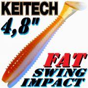 Keitech Fat Swing Impact 4,8 Gummifisch Wakasagi 5 Stück im Set gesalzen & aromatisiert!