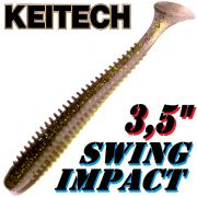 Keitech Swing Impact 3,5 Gummifisch 8,5cm Crystal Shad 8 Stück