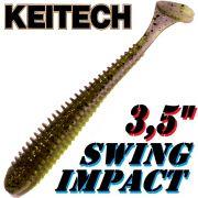 Keitech Swing Impact 3,5 Gummifisch 8,5cm Gold Flash Minnow 8 Stück