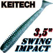 Keitech Swing Impact 3,5 Gummifisch 8,5cm Hasu Silver Shine 8 Stück
