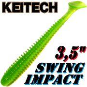 Keitech Swing Impact 3,5 Gummifisch 8,5cm Lime Chartreuse 8 Stück