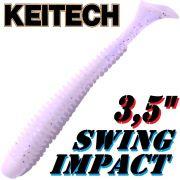 Keitech Swing Impact 3,5 Gummifisch 8,5cm Sight Flash 8 Stück