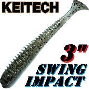 Keitech Swing Impact 3 Gummifisch 7,5cm Silver Shad # 320 - 10 Stück