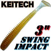 Keitech Swing Impact 3 Gummifisch 7,5cm Wakasagi # 324 - 10 Stück im Set