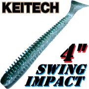 Keitech Swing Impact 4 Gummifisch 10 cm Hasu Silver Shiner 8 Stück