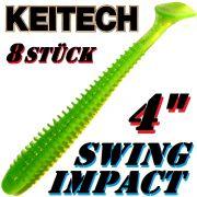 Keitech Swing Impact 4 Gummifisch 10cm Lime Chartreuse 8 Stück