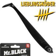 Lieblingsköder 6 Gummifisch 15cm Farbe Mr. Black Zander & Hechtköder ideal für klares Wasser & Nacht