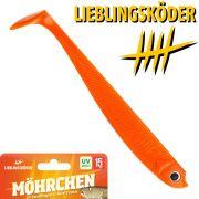 Lieblingsköder 6 Gummifisch 15cm Farbe Möhrchen Zander & Hechtköder ideal für Dorsch in Nord&Ostsee