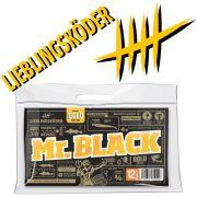 Lieblingsköder Shad 5 Gummifisch 125mm Farbe Mr. Black für klares Wasser & Nachts 4 Stück im Set