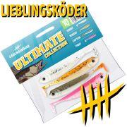 Lieblingsköder Shad 4 Gummifisch Set Ultimate Collection 10cm 4 Farben a 1 Stück = 4 Stück im Set