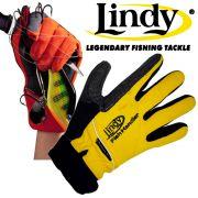 Lindy Fischlandehandschuh Links Hand Gr. S - M Farbe Gelb Schwarz