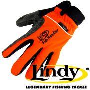 Lindy Fischlandehandschuh Rechte Hand Gr. L - XL Farbe Orange Schwarz