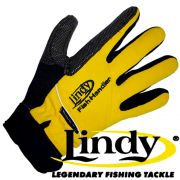 Lindy Fischlandehandschuh Rechte Hand Gr. S - M Farbe Gelb Schwarz