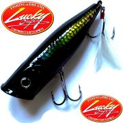 Lucky Craft G-Splash 80 Popper in MS Black 80mm 12g Floating Topwater Splasher