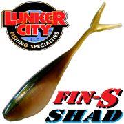 Lunker City Fin-S Shad 3.25 V-Tailshad ca. 8,5 cm Farbe Arkansas Shiner 3.25 10 Stück im Set DS-Köder