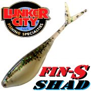Lunker City Fin-S Shad 3.25 V-Tailshad ca. 8,5 cm Farbe Funky Fish 3.25 10 Stück im Set DS-Köder