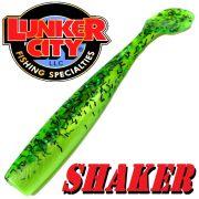 Lunker City Shaker 4,5 - ca. 12cm Gummifisch Farbe Pickle Shad 8 Stück im Set Hecht & Zanderköder