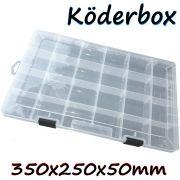 Lurebox Köderbox Köderkiste für Angelköder Größe XL 35X25X5cm 100% Kunstköderresistent