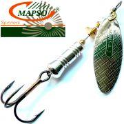 Mapso Spinner Nansa Größe 2 Gewicht 4,5g Farbe Silber Spinnköder 1 Stück