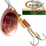 Mapso Spinner Reder Größe 1 Gewicht 3,5g Farbe Kupfer Spinnköder 1 Stück
