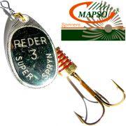 Mapso Spinner Reder Größe 1 Gewicht 3,5g Farbe Silber Spinnköder 1 Stück
