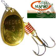 Mapso Spinner Reder Größe 2 Gewicht 4,5g Farbe Gold Spinnköder 1 Stück