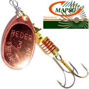 Mapso Spinner Reder Größe 3 Gewicht 6,5g Farbe Kupfer Spinnköder 1 Stück
