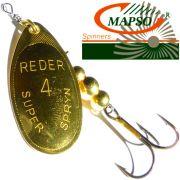 Mapso Spinner Reder Größe 4 Gewicht 9,5g Farbe Gold Spinnköder 1 Stück