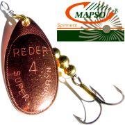 Mapso Spinner Reder Größe 4 Gewicht 9,5g Farbe Kupfer Spinnköder 1 Stück