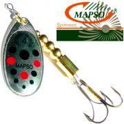 Mapso Spinner Reder Größe 4 Gewicht 9,5g Farbe Silber mit Punkten Spinnköder 1 Stück