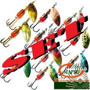 Mapso Spinner Set Spark Größe 1 Gewicht 4,5g 10 Farben a 1 Stück = 10 Stück im Set