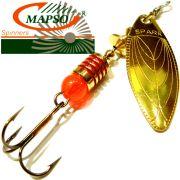 Mapso Spinner Spark Größe 1 Gewicht 4,5g Farbe Gold Spinnköder 1 Stück