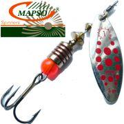 Mapso Spinner Spark Größe 1 Gewicht 4,5g Farbe Silber Rot Spinnköder 1 Stück