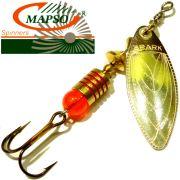 Mapso Spinner Spark Größe 1 Gewicht 4,5g Farbe Silber Spinnköder 1 Stück