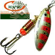Mapso Spinner Spark Größe 2 Gewicht 7g Farbe T-Silber Rot Spinnköder 1 Stück