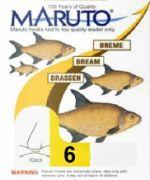 Maruto Brassenhaken gebunden Gr.6 0,22mm 4,8kg 70cm 10 Stück Farbe Gunsmoke