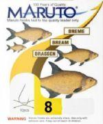 Maruto Brassenhaken gebunden Gr.8 0,18mm 3,1kg 70cm 10 Stück Farbe Gunsmoke