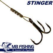 MB-Fishing Angsthaken Stinger mit BKK 6062 Drilling 100mm ideal für Kderlängen von 12-14cm Stint Shad & Aido