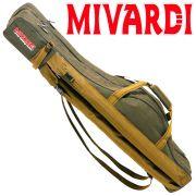 Mivardi Rutentasche Futteral Grün in 140cm länge für 3 Ruten + Zubehör ideal fürs Feeder & Karfenangeln