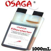 Osaga Filterstarter Bakterien 1000mL für 50000L Teichwasser für Biofilter in Koi & Gartenteichen sowie Aquarien und Innenhälterungen
