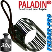 Paladin Feederkorb Futterkorb Pro Gewicht 30g Farbe Schwarz fürs Feederangeln auf Friedfische